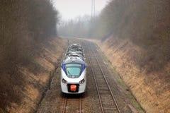 High speed small train stock photos