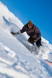High Speed Snowboarder, Snow Flying stock photos