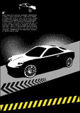 High speed sport car design. With silhouette of sports car Royalty Free Stock Photos