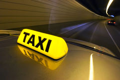 High speed taxi Royalty Free Stock Images