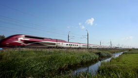 High Speed Thalys Train stock video footage