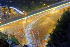 High-speed traffic and blurred light trails Royalty Free Stock Photography