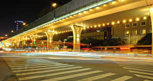 High speed traffic and blurred light trails Royalty Free Stock Images