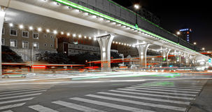 High speed traffic and blurred light trails Stock Image