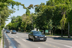 High Speed Traffic on Kiseleff Road Royalty Free Stock Photo