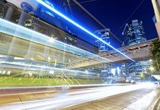 High speed traffic at night Stock Photos