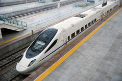 High-Speed Train. A high-speed train stop at the station,which taken in china Stock Images