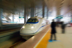 High-speed Train. China Railways High-speed, CRH. Maximum speed of 380 km, in Beijing Stock Photography