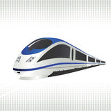 High-speed train. On halftone background. Vector illustration Royalty Free Stock Photos