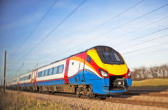 High speed train. Blurred image of a moving high speed train Royalty Free Stock Images