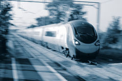 High Speed Train. In Europe Royalty Free Stock Photos