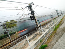 High Speed Train. Moving to the destination Royalty Free Stock Images