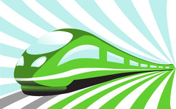 High-speed train. On an abstract background Stock Photos