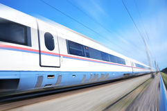 High-speed  train. High-speed commuter train. Express Peregrine Russia. Train Sapsan Royalty Free Stock Image