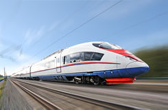 High-speed train. royalty free stock photos