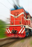 High speed through train Stock Image