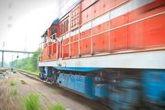 High speed through train Royalty Free Stock Photography