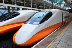 High Speed Train. In Taiwan Royalty Free Stock Photos