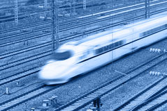 High speed train. Blur picture Royalty Free Stock Images
