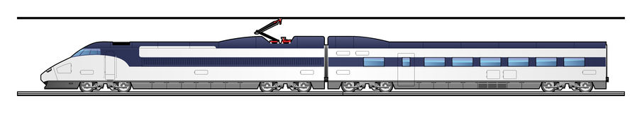 High-speed train. Illustration of a train. Simple gradients only - no gradient mesh Stock Photography