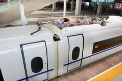 High Speed Train. This picture shows a high speed train at Harbin West Railway Station Stock Images