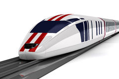 High-speed train. On a white background Stock Photos