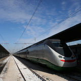 High speed train. At railway station Venice Italy Royalty Free Stock Images