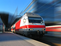 High-speed train. High speed train with motion blur background royalty free stock photos
