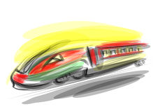 High-speed train. High speed train absract illustration. 10 EPS Royalty Free Stock Images