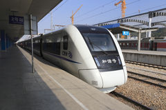 High-speed train. In amoy city, china stock photography