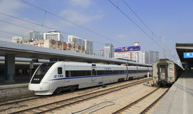 High-speed train. In amoy city, china Royalty Free Stock Images