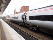 Free High Speed Train At A Local Train Station In Liverpool, UK Royalty Free Stock Photo - 56851765