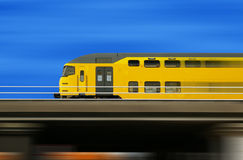 High speed train on a blurred background Royalty Free Stock Photo