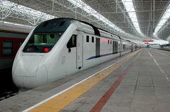 High speed train of China stock photo
