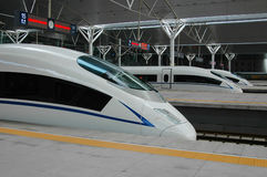 High speed train of China stock images