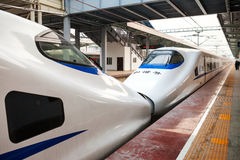 High speed train in China Royalty Free Stock Images