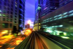 High speed train in city royalty free stock images