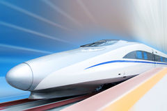 High Speed Train (clipping path)  Stock Photo