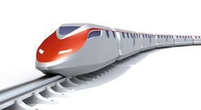 High speed train concept. On white. My own design Royalty Free Stock Photos