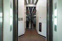 High speed train corridor Royalty Free Stock Photos