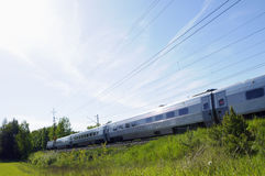 High speed train in country side Stock Photos