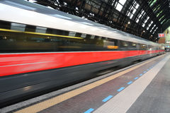 High speed train departure Royalty Free Stock Photography