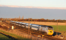 High speed train on East Coast mainline near York Stock Photography