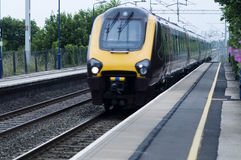 High speed train in England stock photos