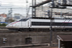 High speed train at Gare de Lyon Stock Images