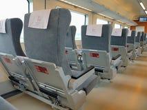 High speed train interior Stock Photo