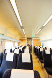 High speed train interior Stock Images