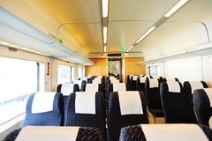 High speed train interior. From guangzhou to shenzhen in china Royalty Free Stock Images
