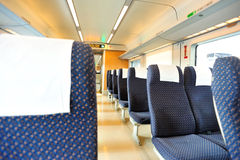 High speed train interior. From guangzhou to shenzhen in china Stock Images