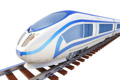 High speed train isolated Stock Photo